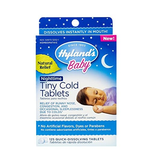 Hylands Baby Night Time Tiny Cold Tablets